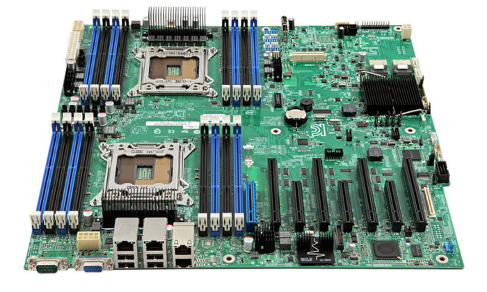 2-socket board supports up to eight single-width or four double-width PCIe* cards for true enterprise class performance and expandability.